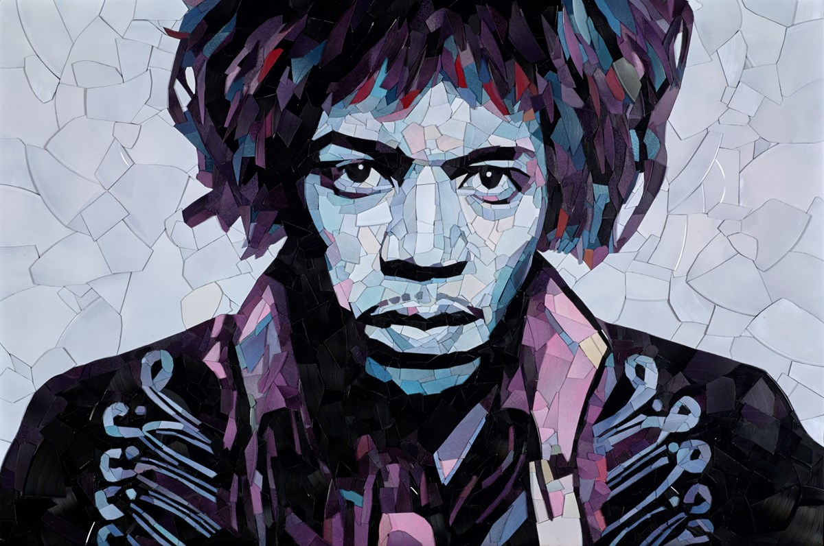 Jimi Hendrix by ed chapman -  sized 42x28 inches. Available from Whitewall Galleries